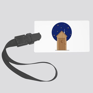 Nighttime Outhouse Luggage Tag