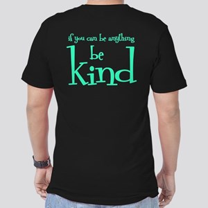 BE KIND (2-sided) Men's Fitted T-Shirt (dark)