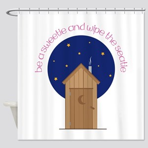 Be A Sweetle And Wipe The Seatle Shower Curtain