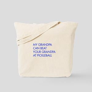 my-grandpa-pickleball-FUT blue Tote Bag