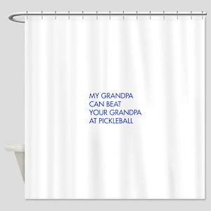 my-grandpa-pickleball-FUT blue Shower Curtain