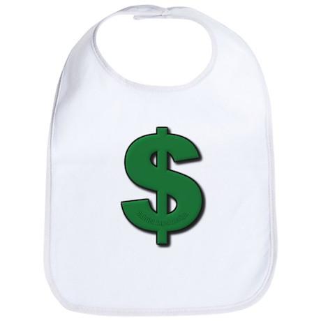 Green Dollar Sign Bib