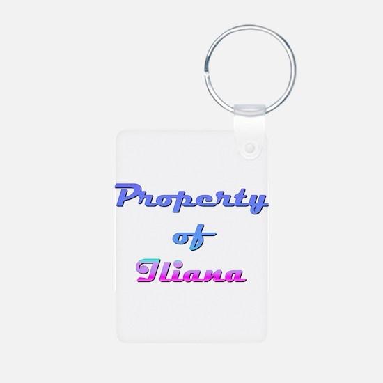 Property Of Iliana Female Keychains