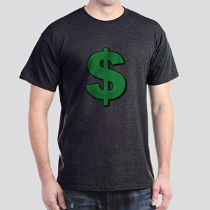 Green Dollar Sign Dark T-Shirt