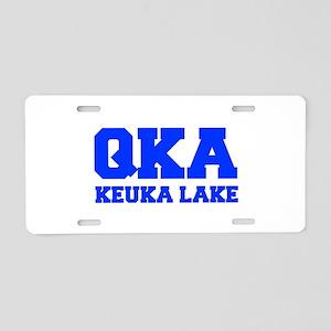 QKA Keuka Lake Aluminum License Plate
