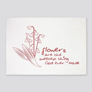 Sweet Flowers 5'x7'Area Rug