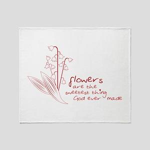 Sweet Flowers Throw Blanket
