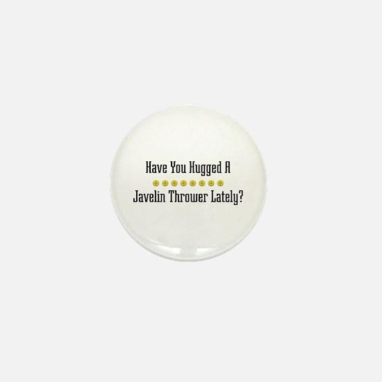 Hugged Javelin Thrower Mini Button