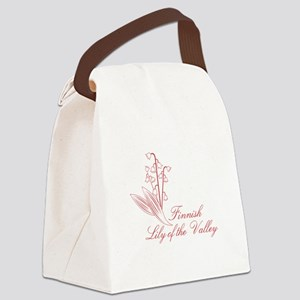 Finnish Lily Canvas Lunch Bag