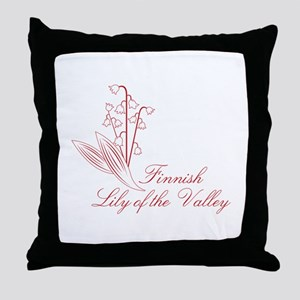 Finnish Lily Throw Pillow