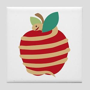 Snake Apple Tile Coaster