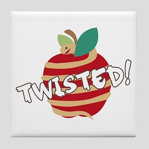 Twisted Apple Tile Coaster