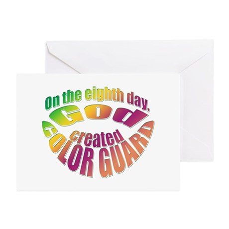 God Created Color Guard Greeting Cards (Package of