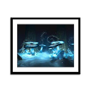 Ice Fairytale World Framed Panel Print
