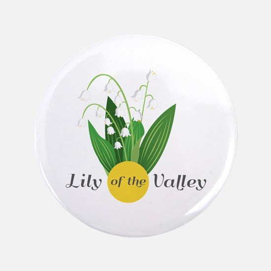 """Lily Of The Valley 3.5"""" Button"""