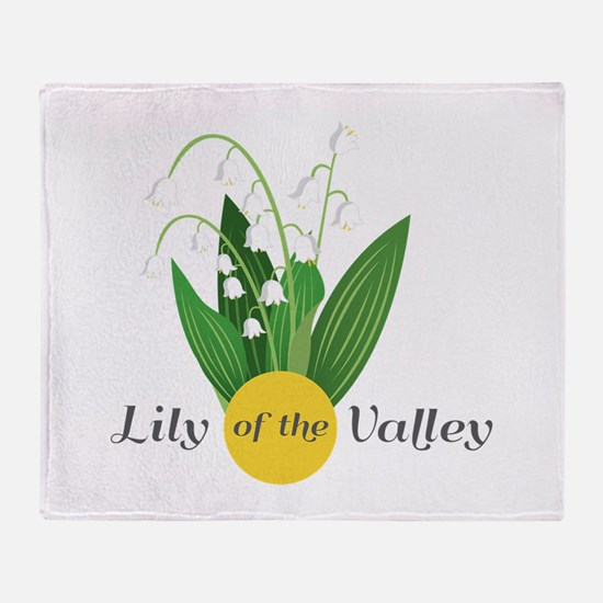 Lily Of The Valley Throw Blanket