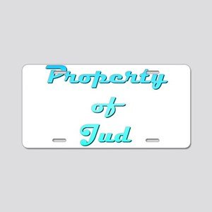 Property Of Jud Male Aluminum License Plate