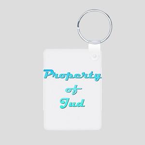 Property Of Jud Male Aluminum Photo Keychain