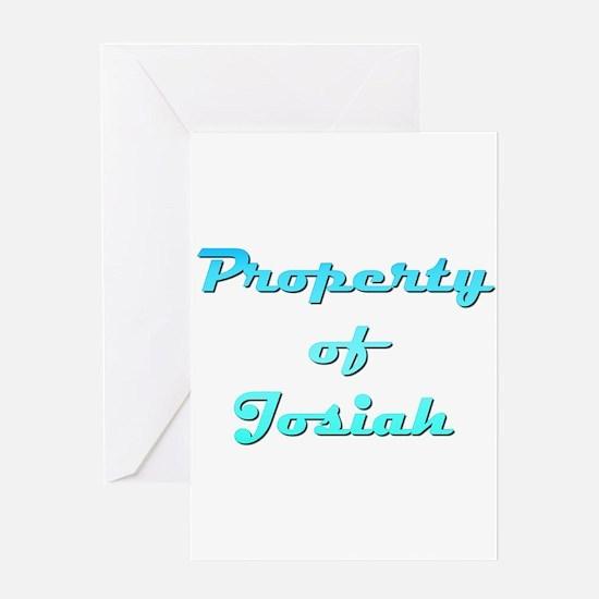 Property Of Josiah Male Greeting Card