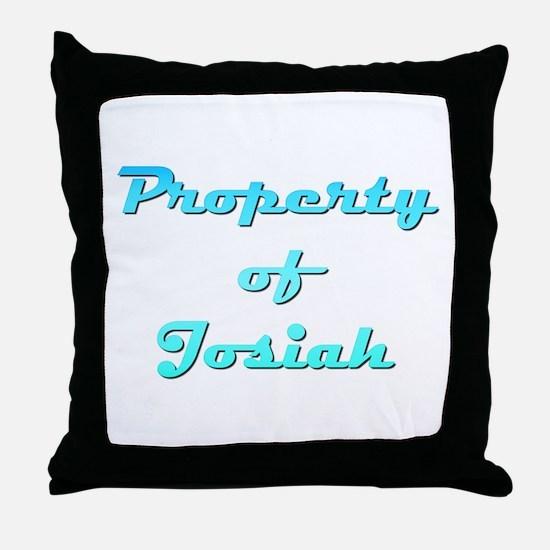 Property Of Josiah Male Throw Pillow