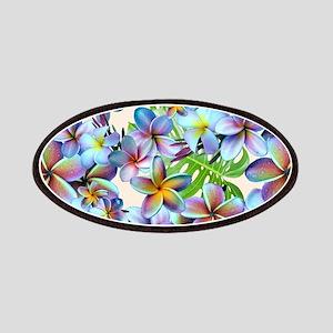 Rainbow Plumeria Pattern Patch