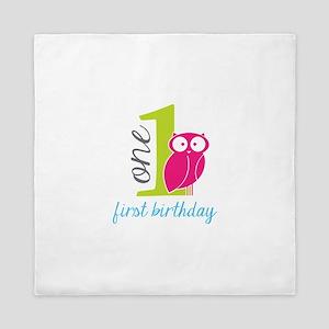 First Birthday Queen Duvet