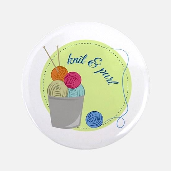 "Knit & Pure 3.5"" Button"