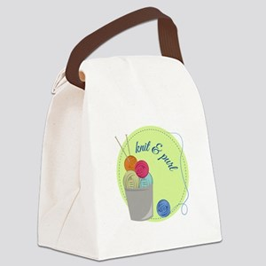 Knit & Pure Canvas Lunch Bag