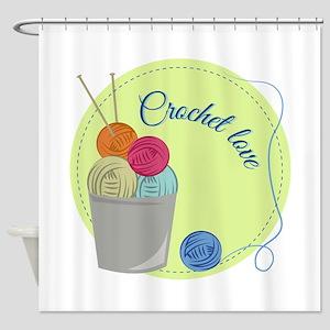Crochet Love Shower Curtain