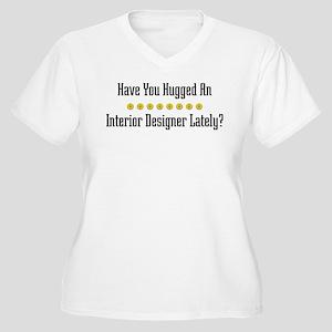 Hugged Interior Designer Women's Plus Size V-Neck