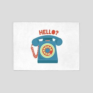 Hello? 5'x7'Area Rug