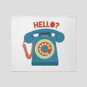 Hello? Throw Blanket
