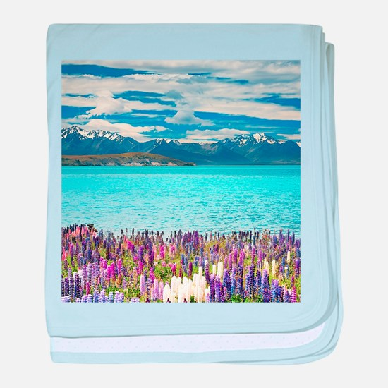 New Zealand Landscape baby blanket