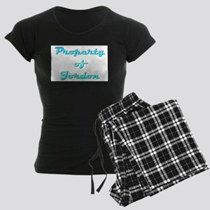 Property Of Jordon Male Women's Dark Pajamas