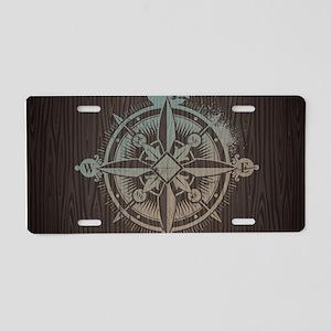 Nautical Compass Aluminum License Plate
