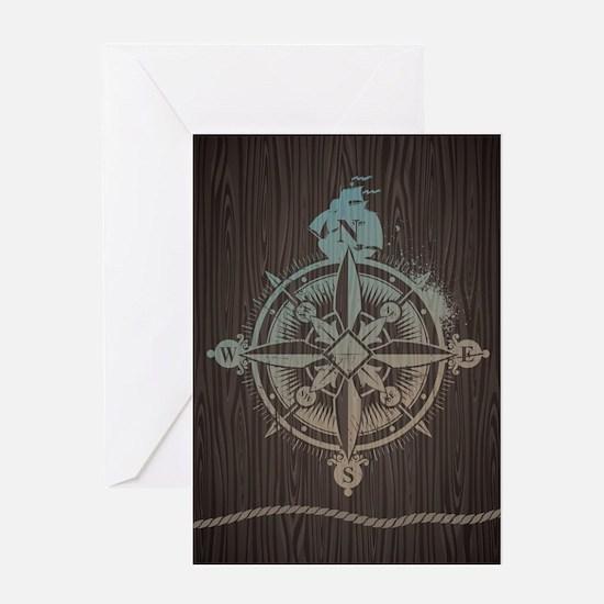 Nautical Compass Greeting Cards
