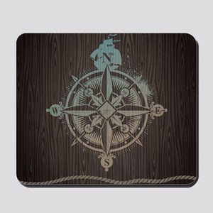 Nautical Compass Mousepad