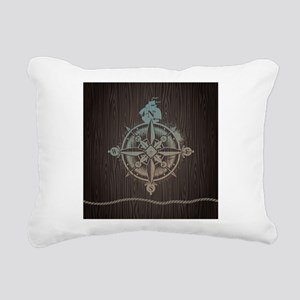 Nautical Compass Rectangular Canvas Pillow
