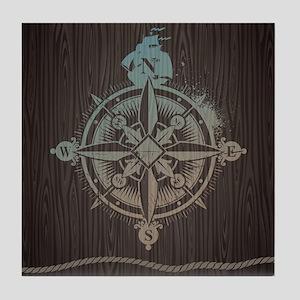 Nautical Compass Tile Coaster