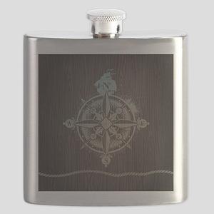 Nautical Compass Flask
