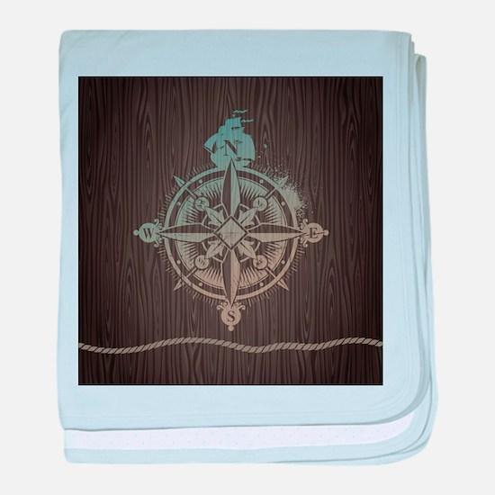 Nautical Compass baby blanket