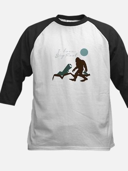 I Love Bigfoot Baseball Jersey
