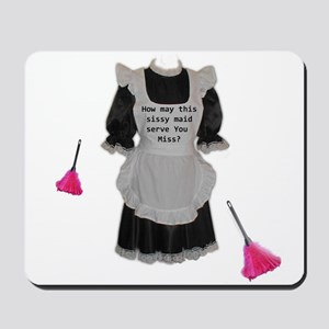 sissy maid Mousepad