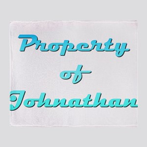 Property Of Johnathan Male Throw Blanket