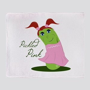 Pickled Pink Throw Blanket