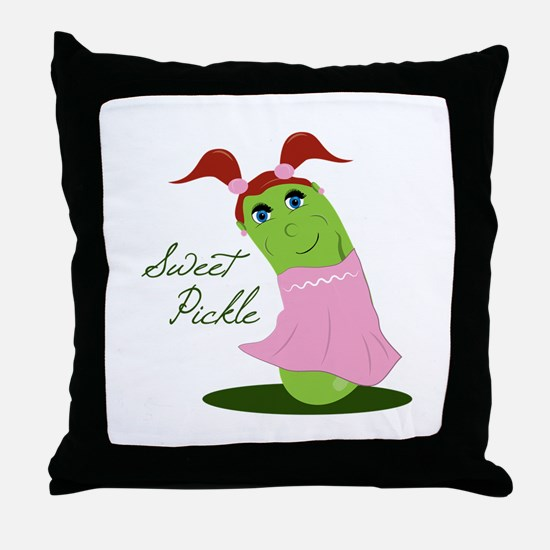 Sweet Pickle Throw Pillow