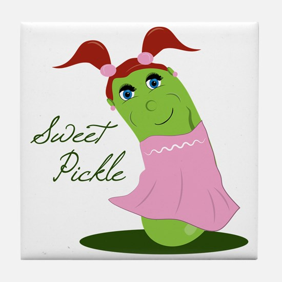 Sweet Pickle Tile Coaster