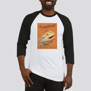 Happiness is a Bearded Dragon. Baseball Jersey
