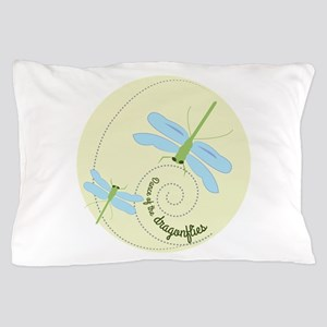 Dance of the dragonflies Pillow Case