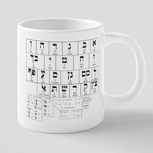 Hebrew Alphabet Mugs